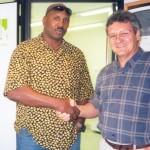 Dr. Alexandre Cosendey e o Boxer Aurélio Toyo Perez