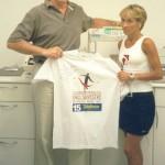 Dr. Alexandre Cosendey e Márcia Narlock após vitória na corrida de 77º Corrida de São Silvestre