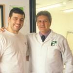 Dr. Alexandre Cosendey e o lutador Pedro Rizzo
