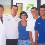 Dr. Alexandre Cosendey, Toben Grael e a equipe de Vela