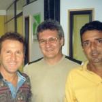 Zico, Dr. Alexandre Cosendey e Jorge de Augustinis